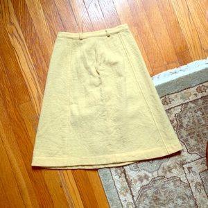 Vintage Butter Yellow Midi Skirt